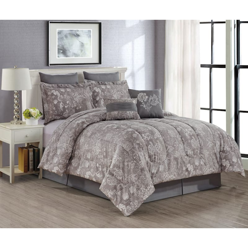 Briella 8-Piece Print Comforter Set, King
