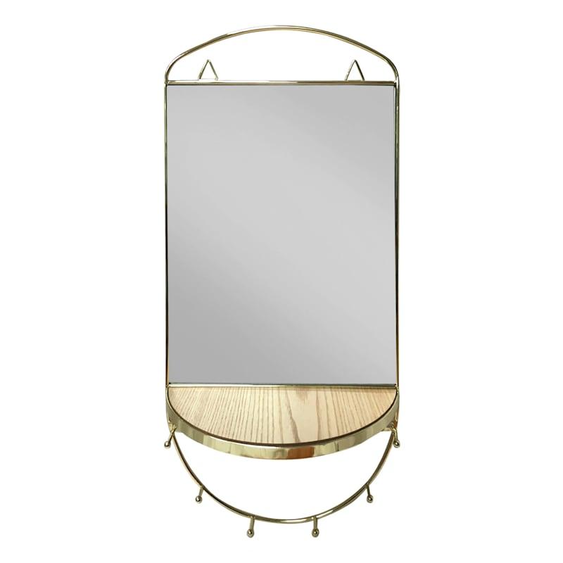 Wall Shelf/Mirror And Jewelry Hooks