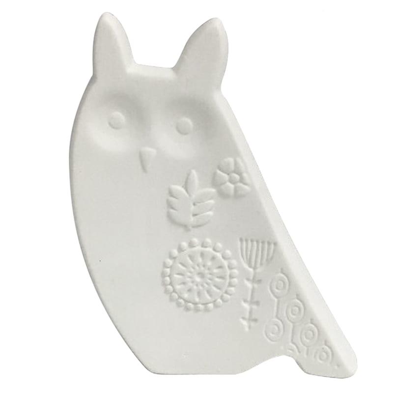 4X4 White Porcelain Owl