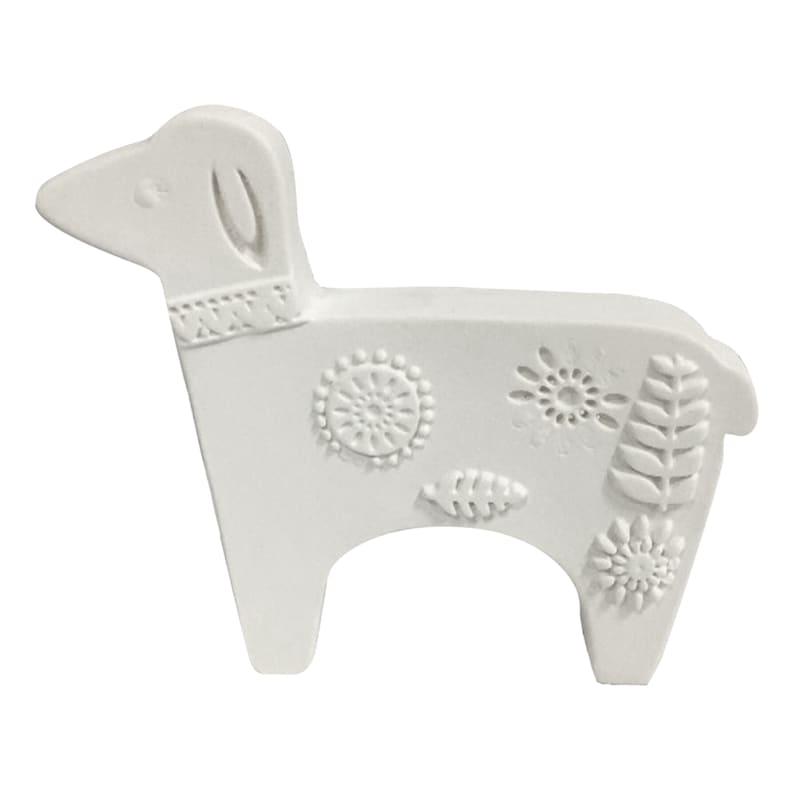 5X4 White Porcelain Sheep
