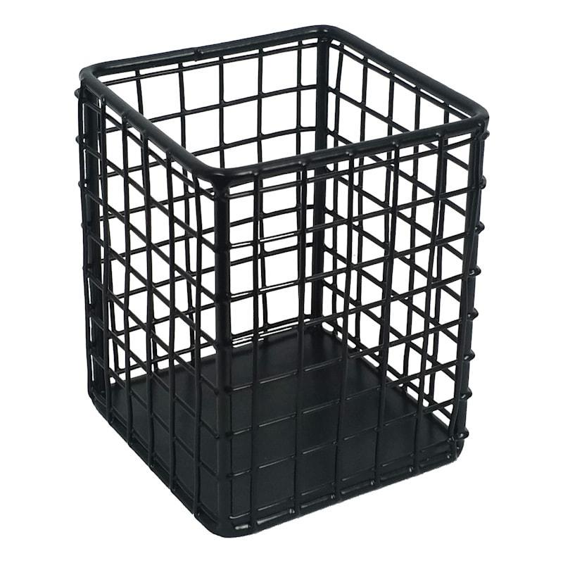 Black Grid Pencil Cup