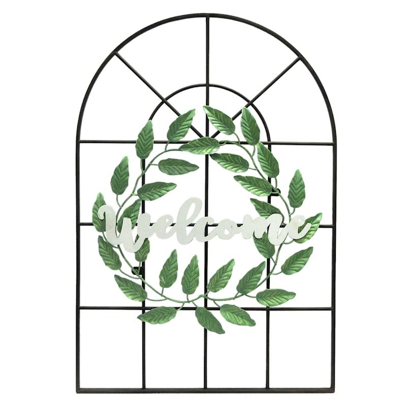 Metal Welcome Window & Wall Decor
