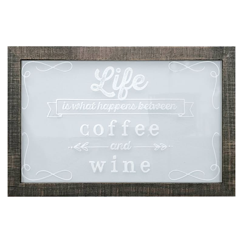 Novelty Glass Picture Frame Decorative Glass Glass Picture Coffee Kitchen Coffee 030207-18