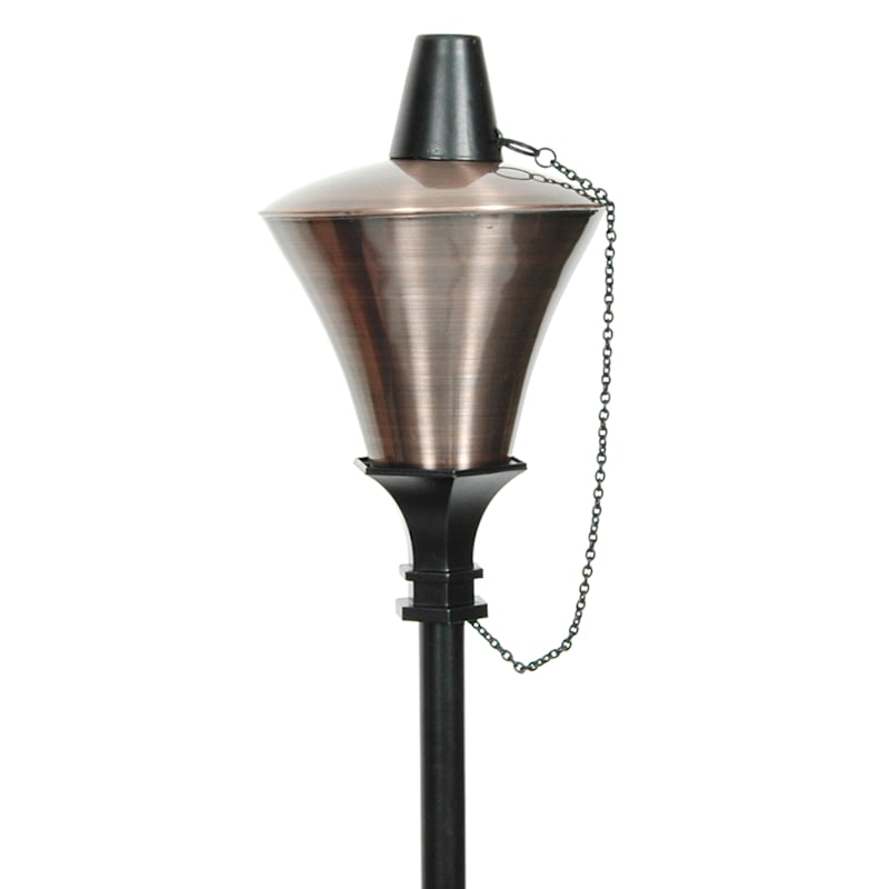 Torch 72in. Metal Stub Conical Can Antique Brass