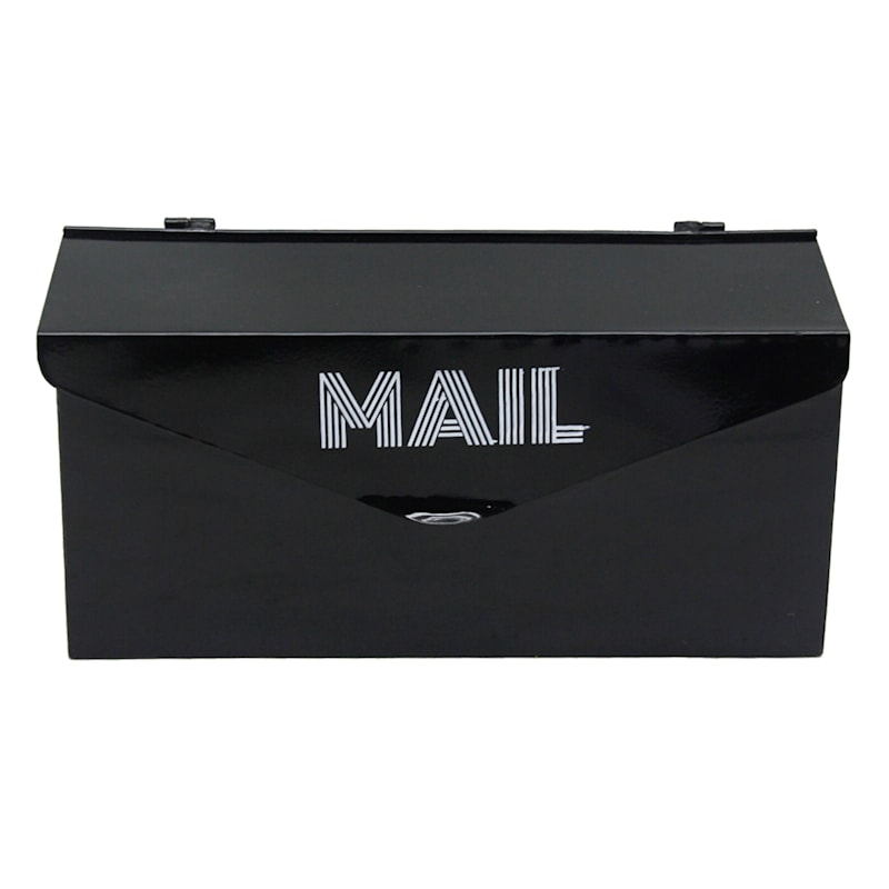 Modern Black Metal Mail Box 14X7
