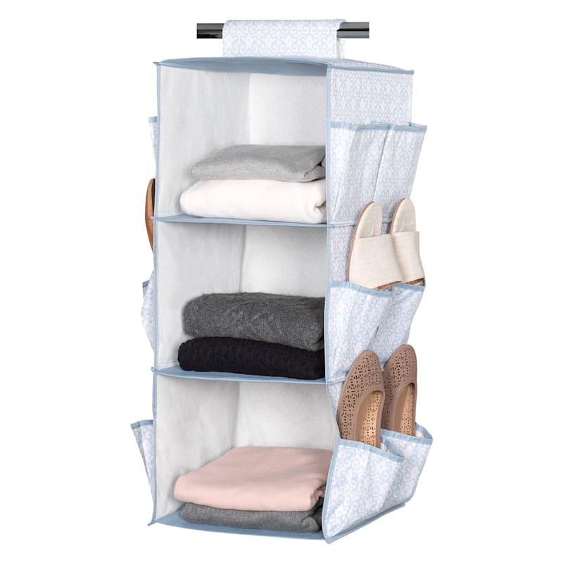 3 Shelf Hanging Organizer W/Shoe Storage