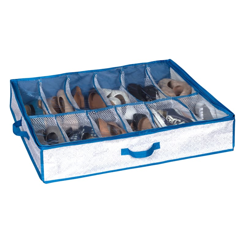Wts Large Under the Bed 12 Compartment Organizer