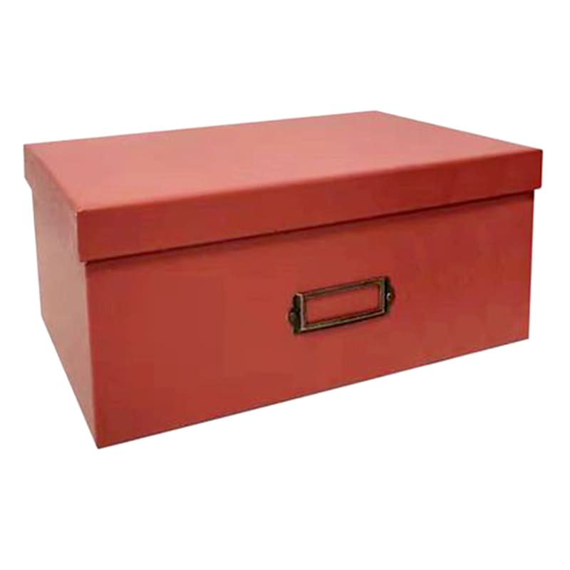 Rectangle Structured Paperboard Box Lid Rust M
