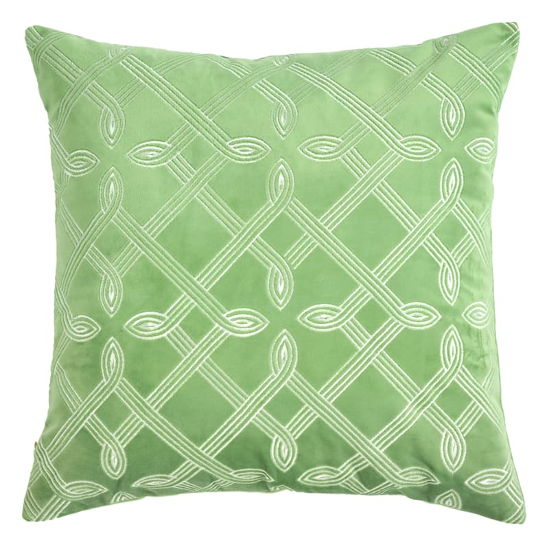 Grace Mitchell Jade Garden Throw Pillow, 18""