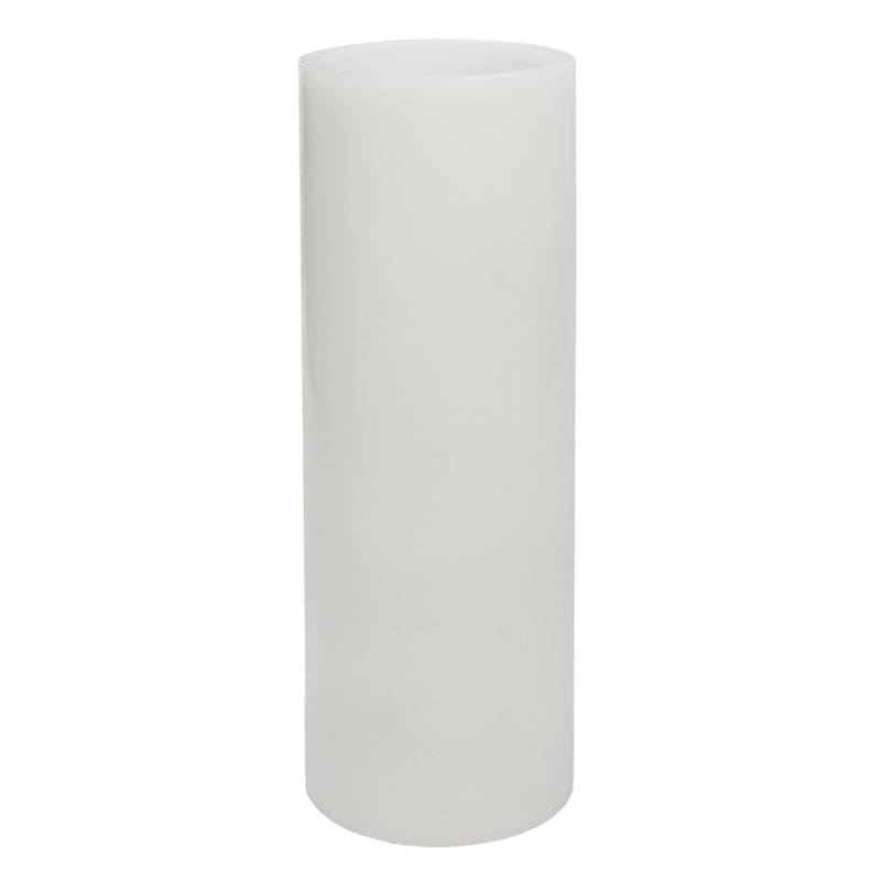 4X10 Led Flameless Pillar Candle White