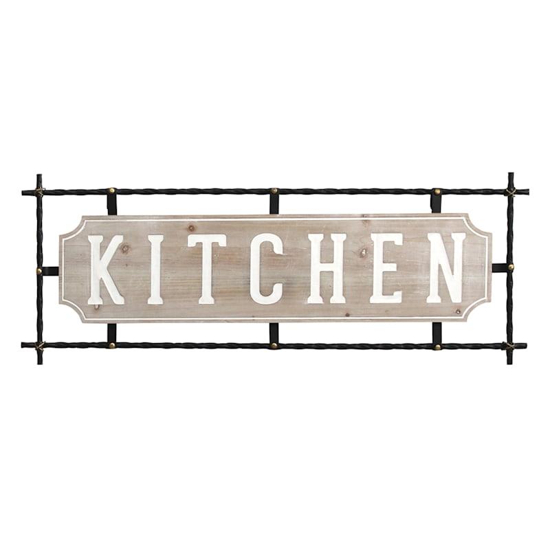 31X12 Kitchen Metal/Wood Wall Decor