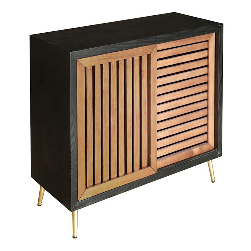 Two-Tone Slat Door Cabinet