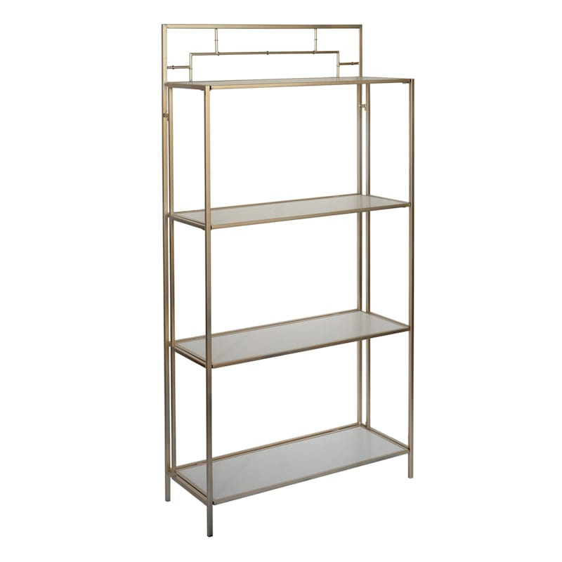 Grace Mitchell Gold Metal Bamboo Folding Shelf, 66""