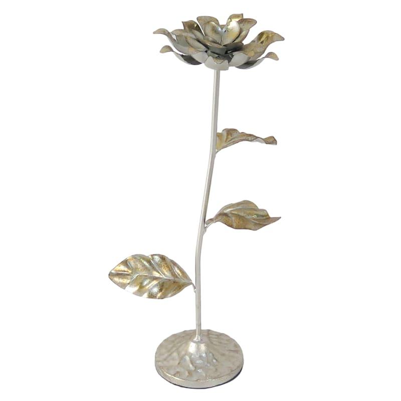 "Grace Mitchell Gold Metal Flower Decor, 15"""