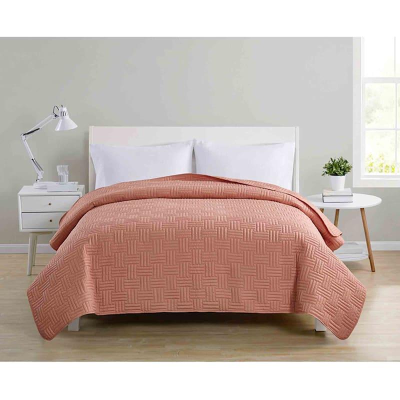 Lia Orange Pinsonic Quilt Full/Queen
