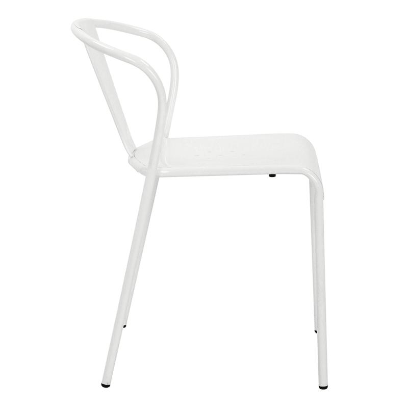 Nova White Metal Dining Chair