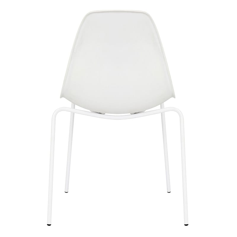 Lily White Dining Chair With Metal Legs