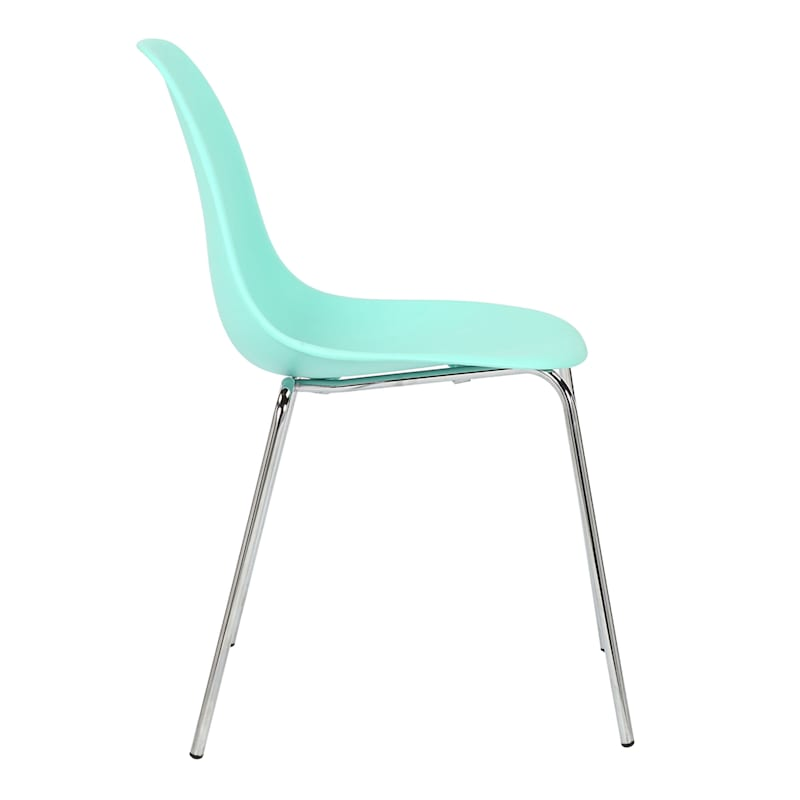 Lily Teal Dining Chair With Metal Legs