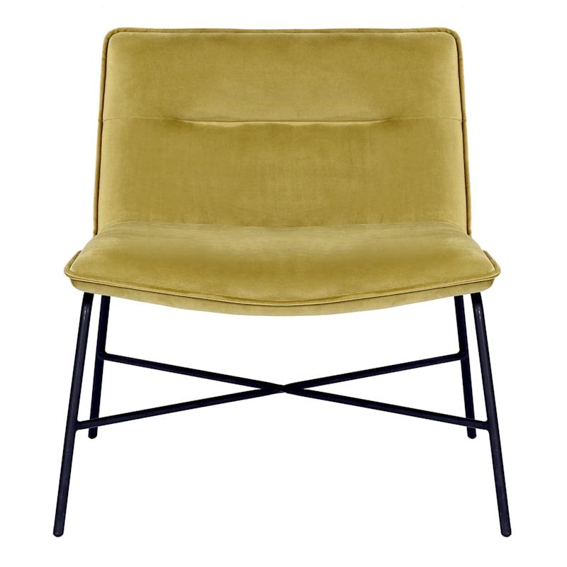 Zoey Green Velvet Armless Accent Chair