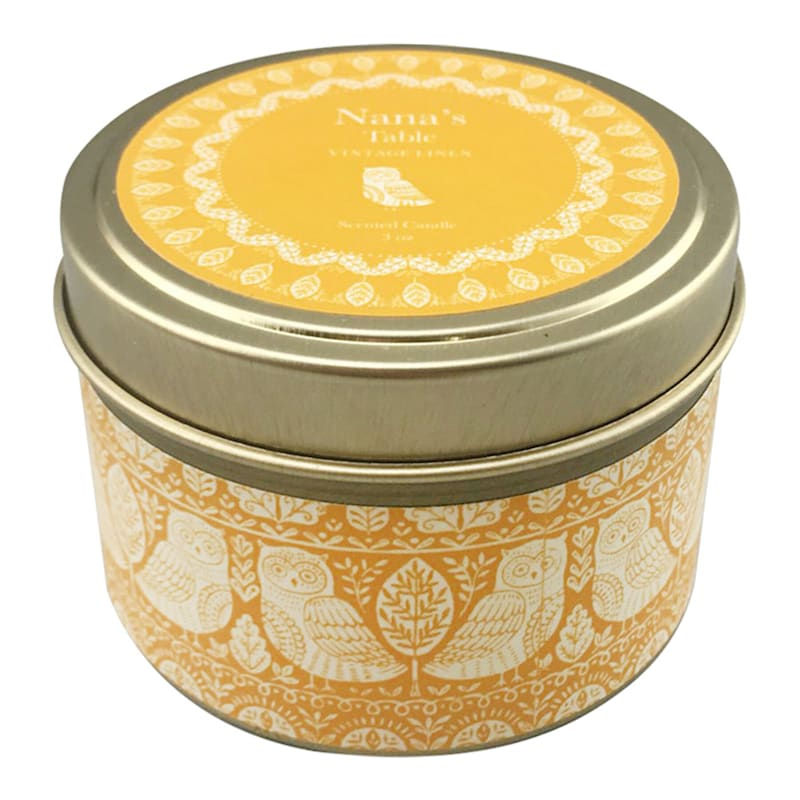 3oz Nanas Table Candle Tin
