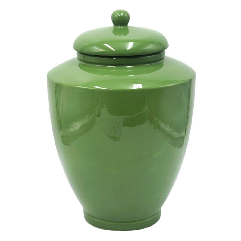 14in. Ceramic Green Ginger Jar
