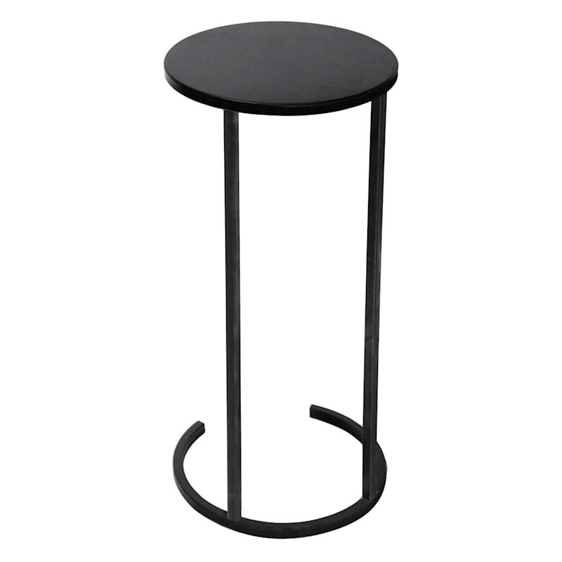 Metal Round C Table Black