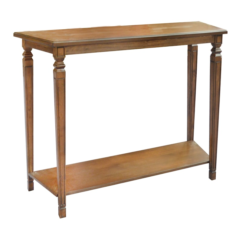 48in. Cortana Tapered Leg Console Table Brown