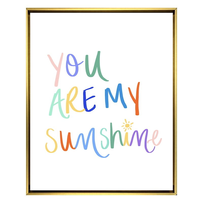 You Are My Sunshine Picture Frame Plastic Canvas Pattern