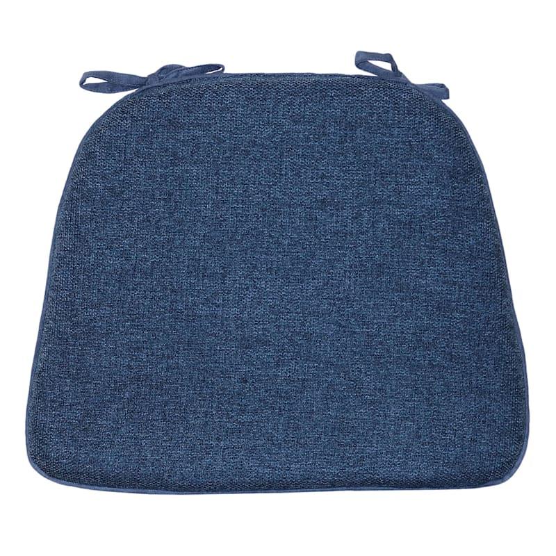San Raphael Textured Foam Chair Pad/Ties Indigo