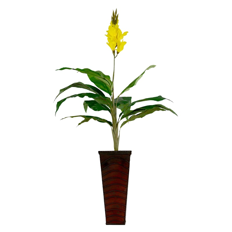 36in. Yellow Ginger In Basket