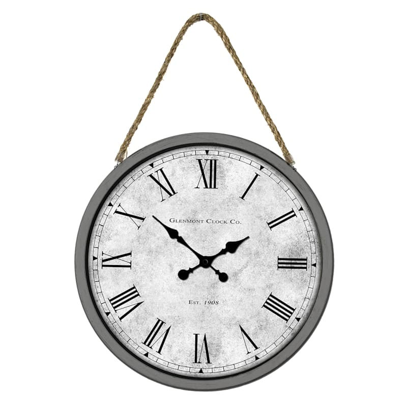 """16"""" Wall Clock with Rope Hanger"""