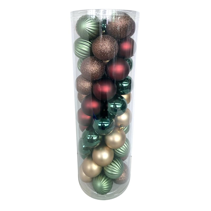 50-Count Holiday Hoedown Shatterproof Ornaments