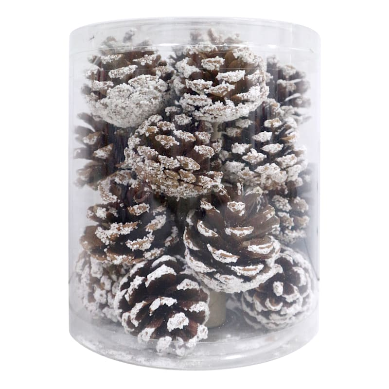 20-Count Brown Pinecone Shatterproof Ornaments