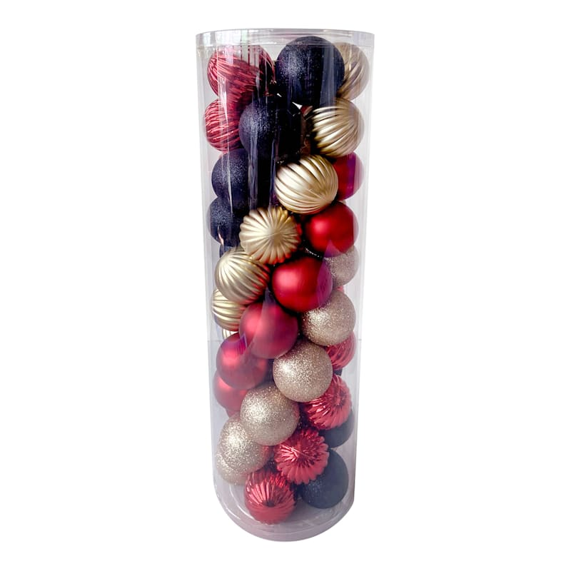FAO Schwarz 50-Count Boxed Shatterproof Ornaments