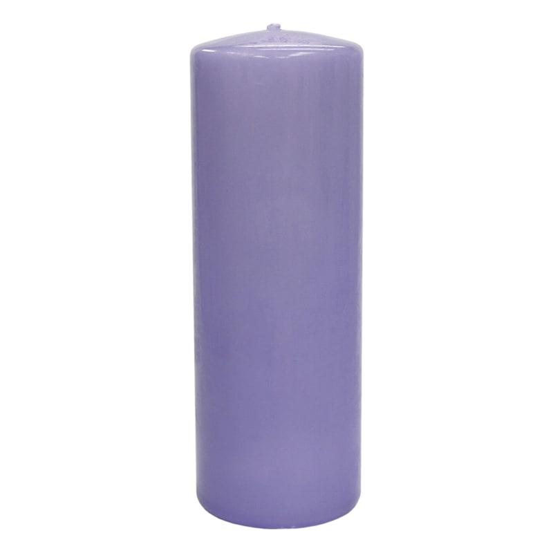 2.8X8 Overdip Pillar Candle Purple