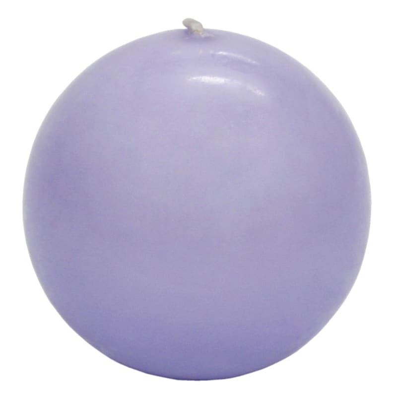 2.8in. Overdip Sphere Candle Purple
