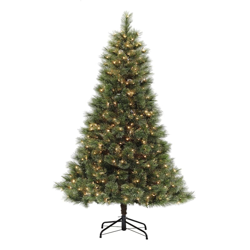 (C22) 7' Pre-Lit Cashmere Spruce Christmas Tree with 500 Clear Lights