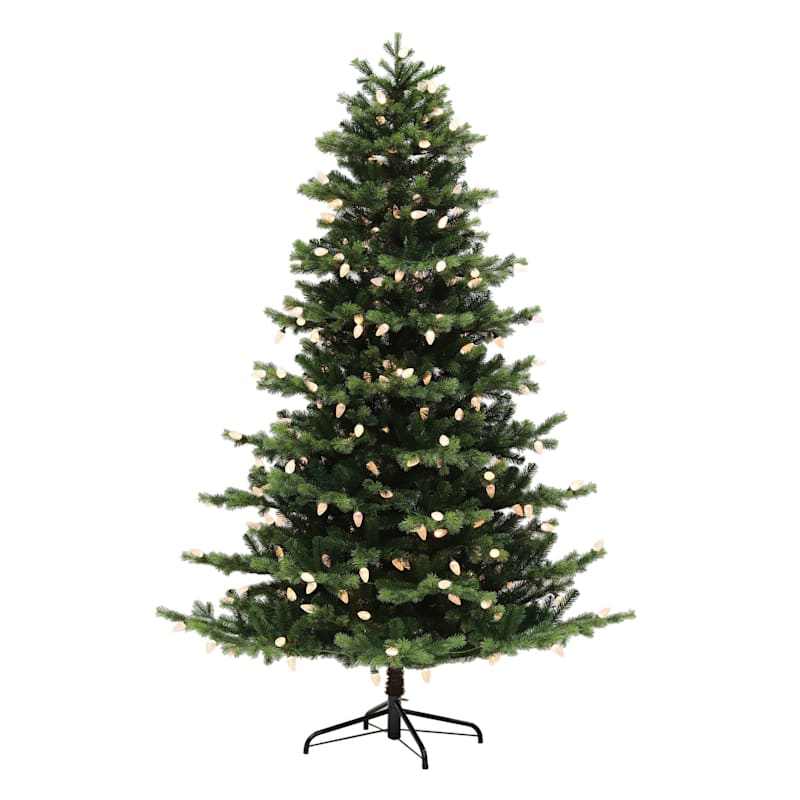 (C34) 7.5' Pre-Lit FAO Schwarz Christmas Tree with 300 Color Changing C9 LED Lights