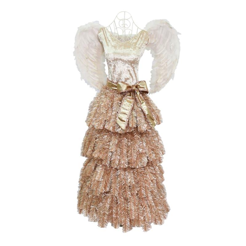 (F21) 5' Rose Gold Angel Dress-Form Christmas Tree