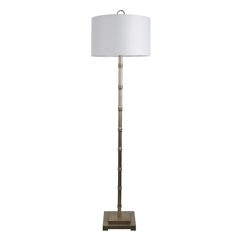 "Grace Mitchell Gold Metal Bamboo Floor Lamp, 63"""