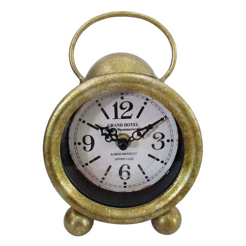 Grace Mitchell Gold Tabletop Clock