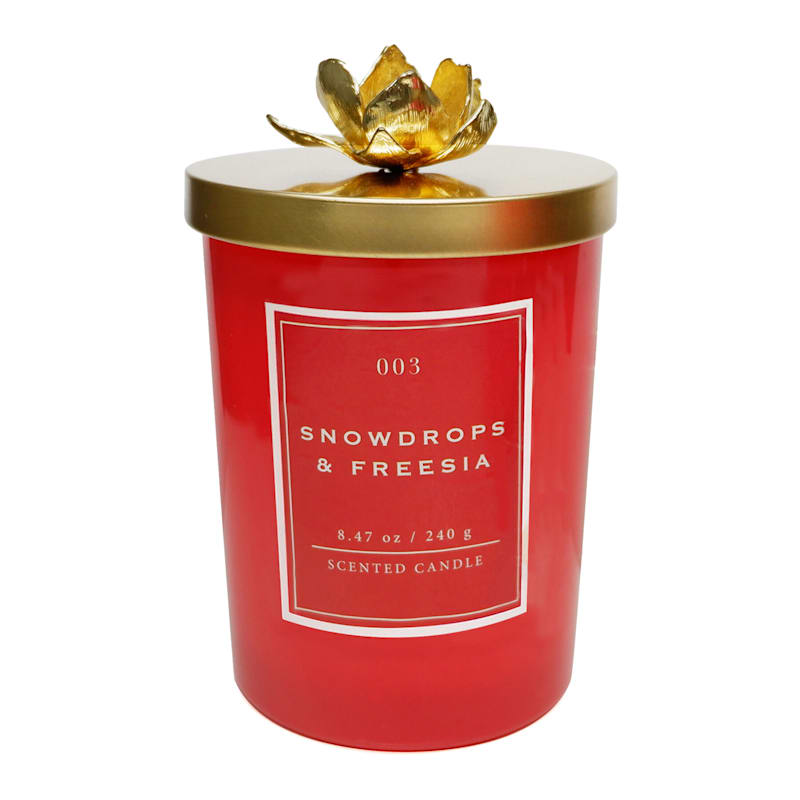 Snowdrop Freesia 8.47oz Flower Lid Candle