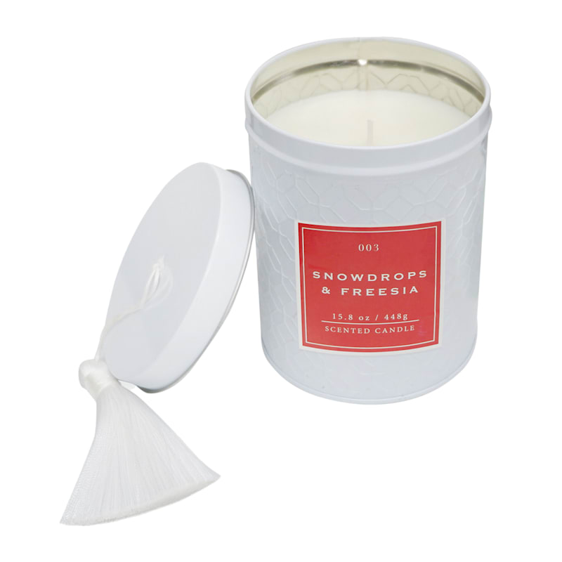 Peppercorn Fig 15.8oz Tassel Tin Candle