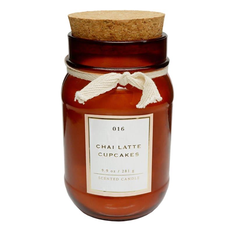 Chai Latte Cupcakes 9.9oz Cork Lid Jar Candle