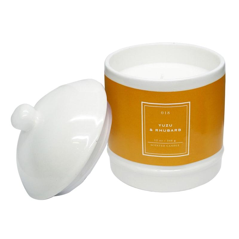 Yuzu Rhubarb 12oz Ginger Jar Candle