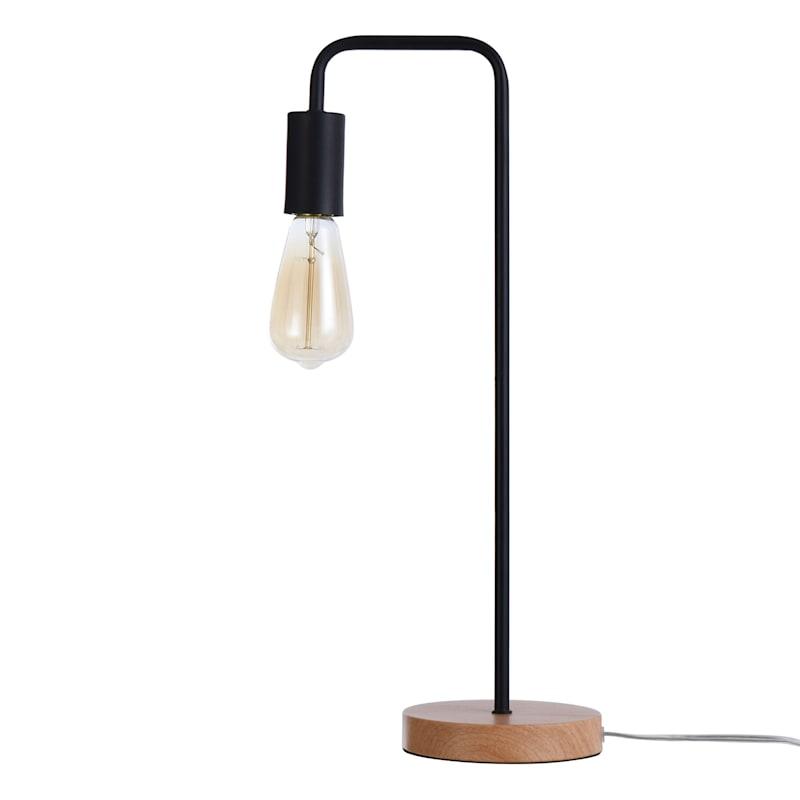 20in. Black Metal Task Lamp