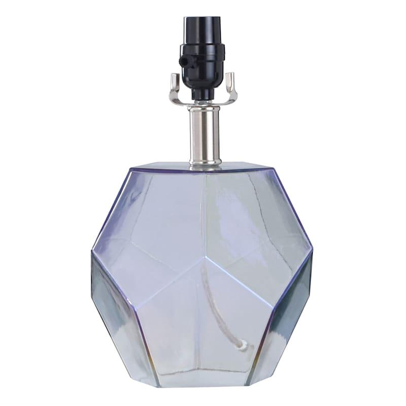 12in. Iridescent Glass Accent Lamp
