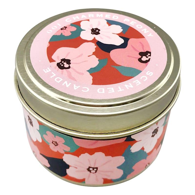 3oz Charmed Peony Candle Tin