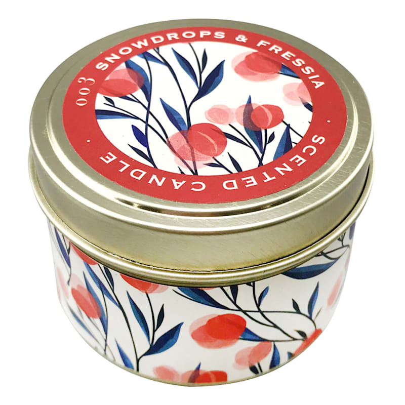 3oz Snowdrops Candle Tin