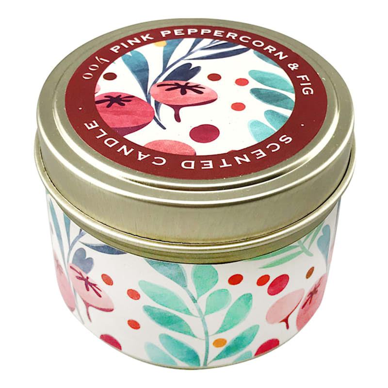 3oz Pink Peppercorn Candle Tin